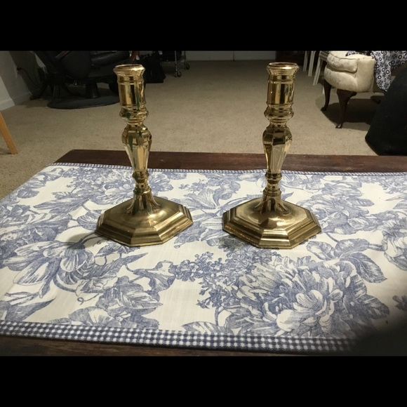 2 Portugal Brass Crafters Candle Sticks